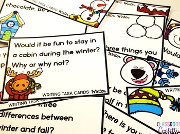 Winter Writing Task Cards