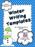 Winter Writing Templates - Kindergarten and Grade 1