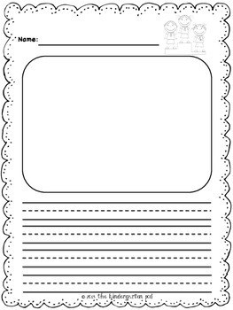 writing templates for kindergarten
