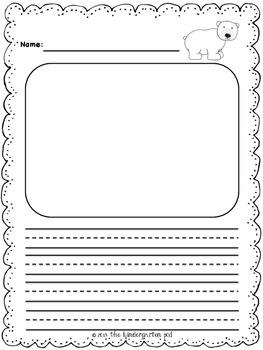 Winter Writing Templates - Kindergarten and Grade 1