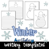 Winter Snowman Seasonal Writing Paper Set