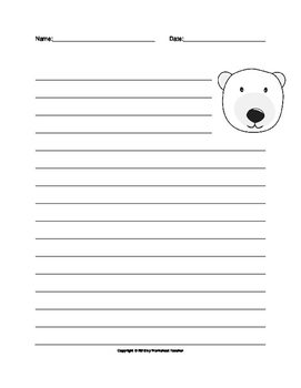 Winter Writing Themed Lined Paper Set