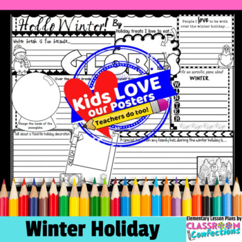 Winter Writing: Prompts Poster Activity for the Holiday