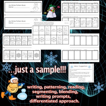 Winter - Writing and Patterning Fun. CCS Aligned
