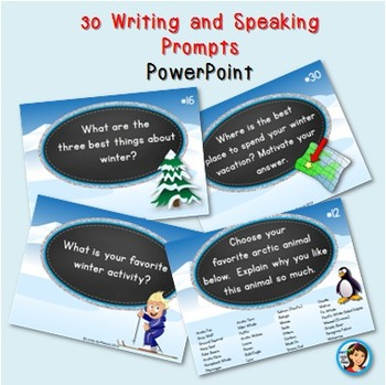 Winter Writing and Speaking Prompts PowerPoint