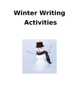 Winter Writing and a Poem to write