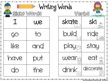 Winter Writing for Young Learners