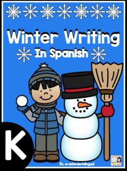 Winter Writing in Spanish, oraciones revueltas y  escritura en kinder
