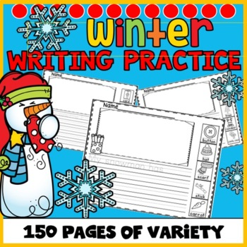 Winter Writing with Picture Word Boxes