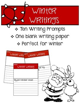 Winter Writings *Writing Prompts & a Blank Template*