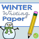 Winter/Xmas Themed Paper with Handwriting Lines ~ Christma