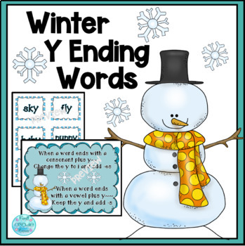 Winter Y Words- Change y to -ies or Just Add -S