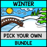 Winter YOU Pick Bundle: Math, Reading, Writing, Cooking, Special Education