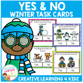 Yes & No Winter Picture Question Task Cards