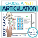 Winter Yeti Articulation Boom Cards™️ for Speech Therapy