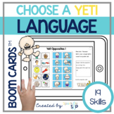 Winter Yeti Language Boom Cards™️ for Speech Therapy