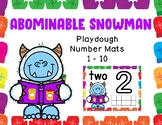 Winter Yeti Playdough Mats (Numbers 1 – 10)