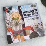 Winter Yoga Book for Kids - Jenny's Winter Walk