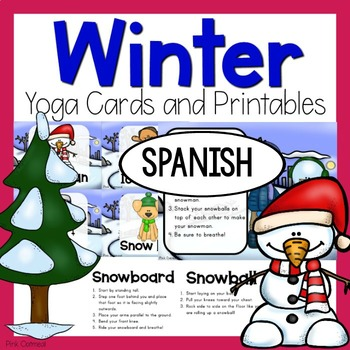 Winter Yoga Cards and Printables - SPANISH