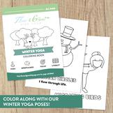 Winter Yoga Coloring Book