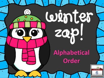 Winter ZAP! Alphabetical Order