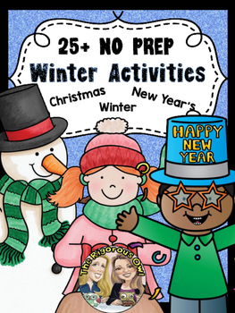 Winter and Christmas Activity Bundle NO PREP