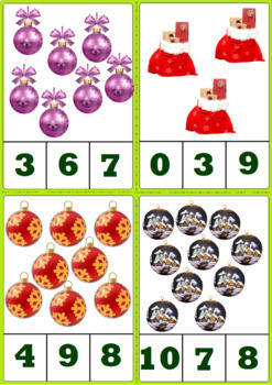 Winter and Christmas Activity - Clip Cards