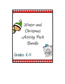 Winter and Christmas Activity Pack Bundle K-5