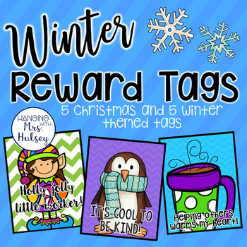 Winter and Christmas Reward Tags
