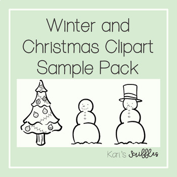Winter and Christmas Clipart Sample Pack