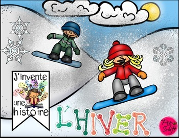 Winter and Christmas Story Springboards ~ French ~ J'invente une histoire