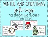 Winter and Christmas Gift Tags & Thank You Notes For Teachers and Students
