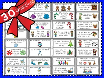 Christmas and Winter Graph Questions with Recording Sheets (CUT AND PASTE)