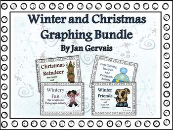 Winter and Christmas Graphing Bundle