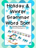 Winter and Christmas Holiday Grammar Word Sort