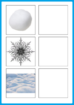 Winter and Christmas Matching Activity