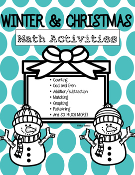 Winter and Christmas Math Activities NO PREP