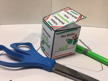 Winter and Christmas Mini-box Activity in German