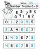 Winter and Christmas Number Tracks Digits 0 - 5 and 0 - 9
