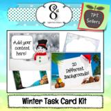 Winter and Christmas Task Card Kit