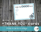 Winter and Christmas Thank You Cards