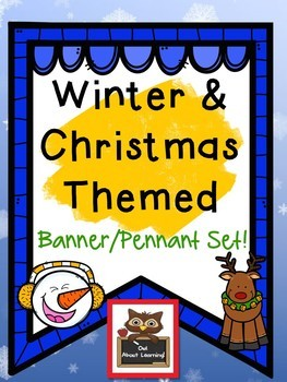 Winter and Christmas Themed Alphabet Banner & Pennant Set!