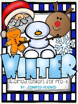Winter and Christmas-Themed Center Activities for Pre-K