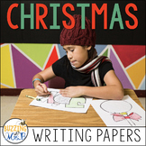 Winter and Christmas Themed Writing Border Papers