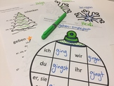 Winter and Christmas VERB Activities in German