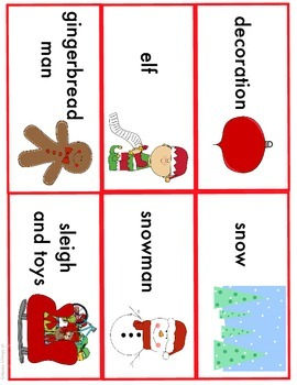 Winter and Christmas Word Cards