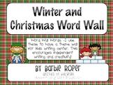 Winter and Christmas Word Wall