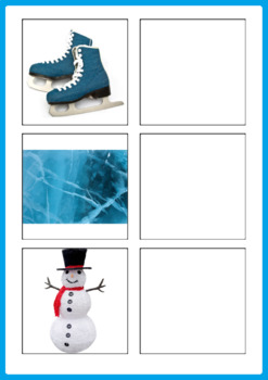 Winter and Christmas Word to Picture Matching Activity