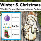Christmas Activity - Word to Picture Match