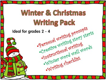 Winter and Christmas Writing Pack